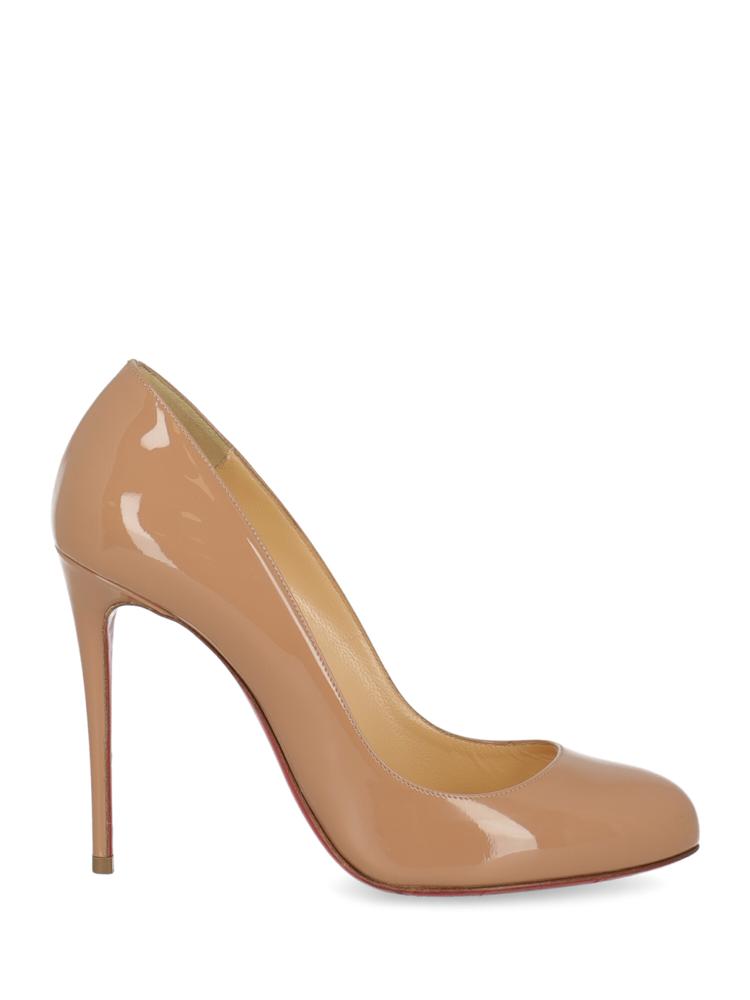 Pre-owned Christian Louboutin Shoe In Beige