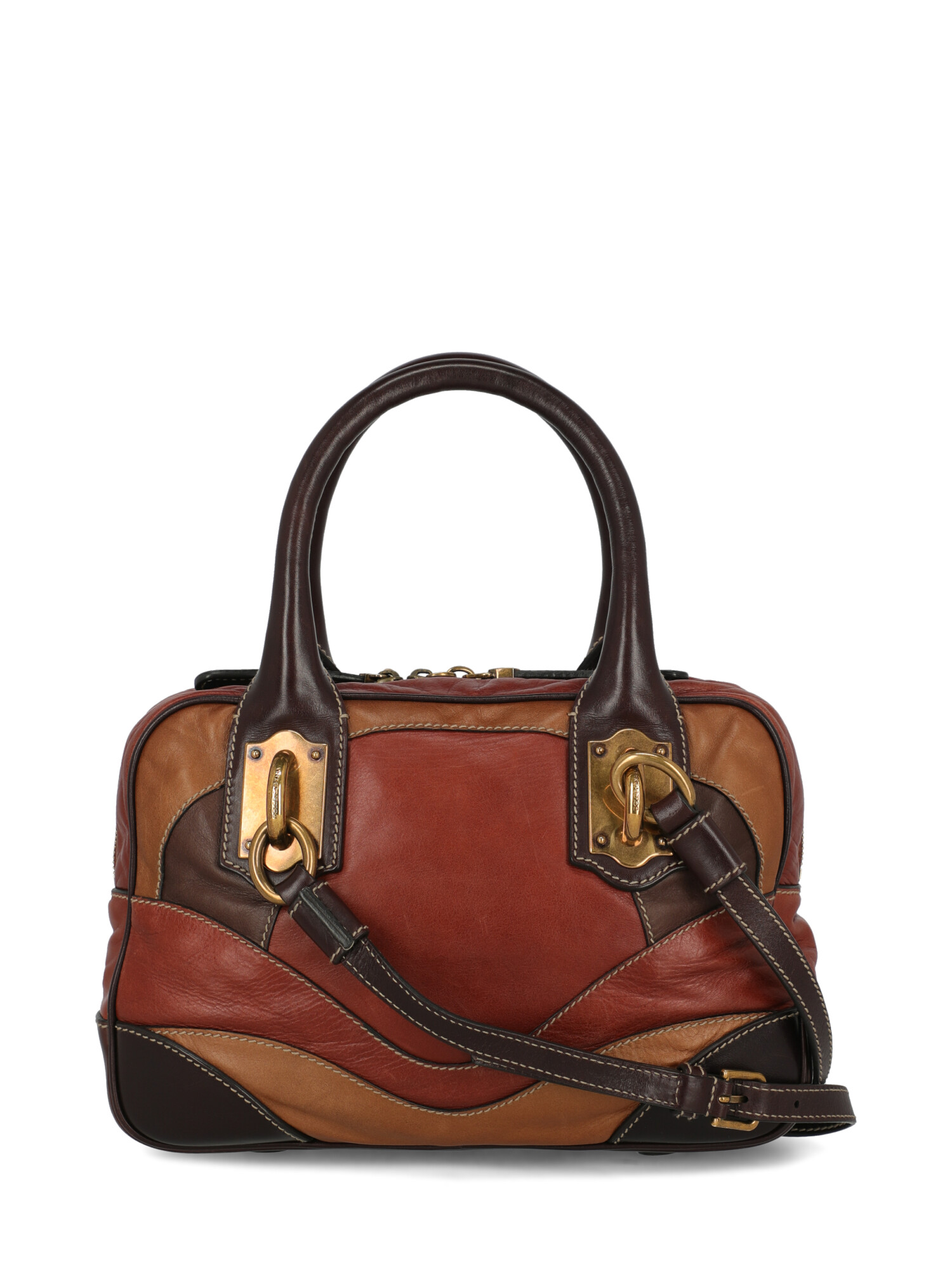 Pre-owned Dolce & Gabbana Shoulder Bag In Brown