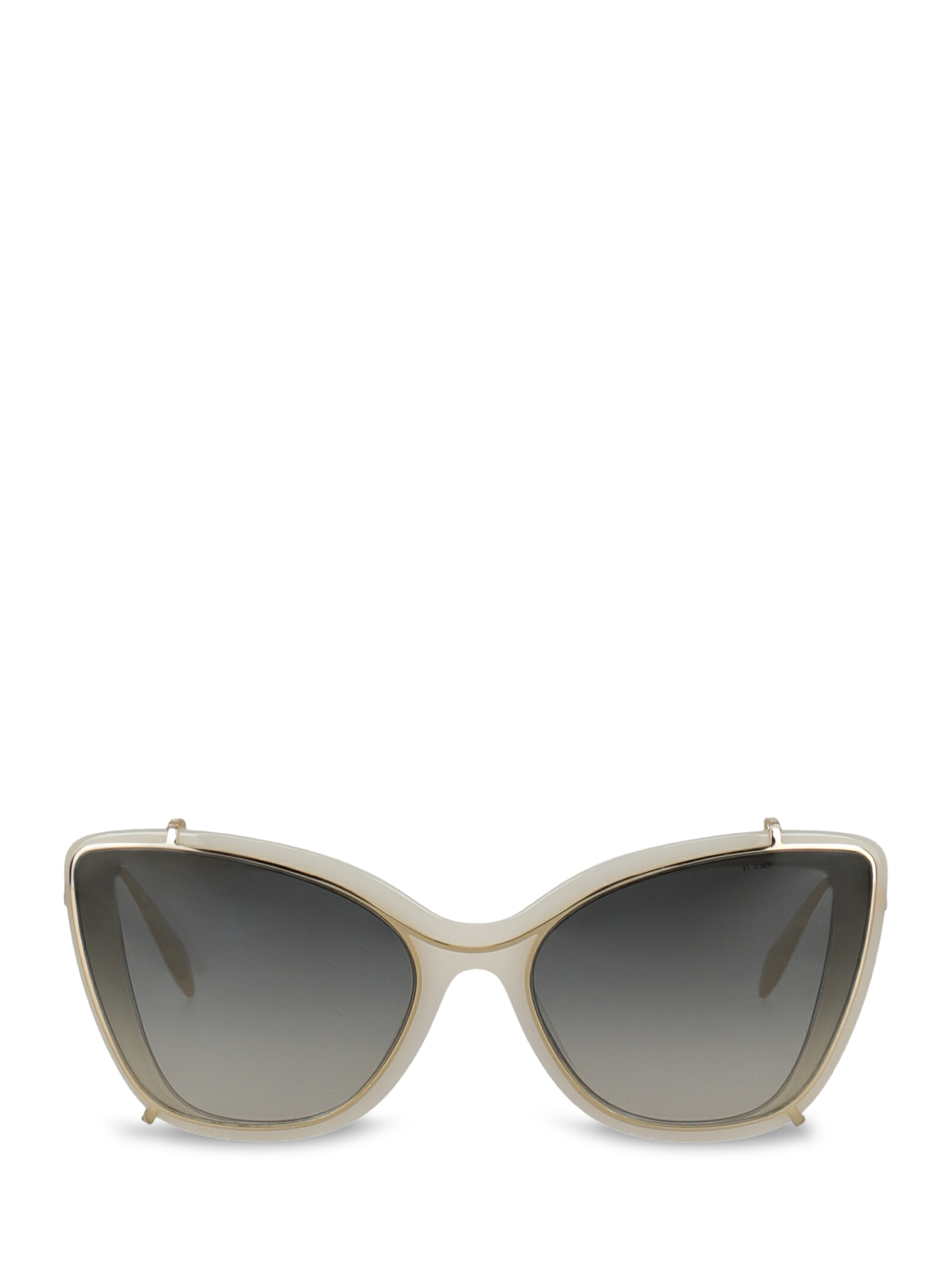 Pre-owned Alexander Mcqueen Woman In Gold, White