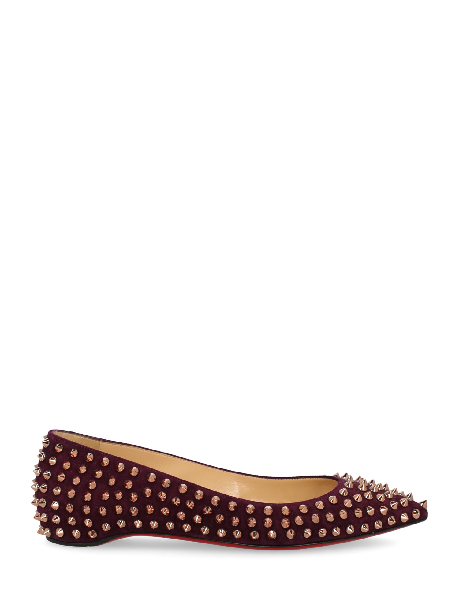 Pre-owned Christian Louboutin Ballet Flats In Purple