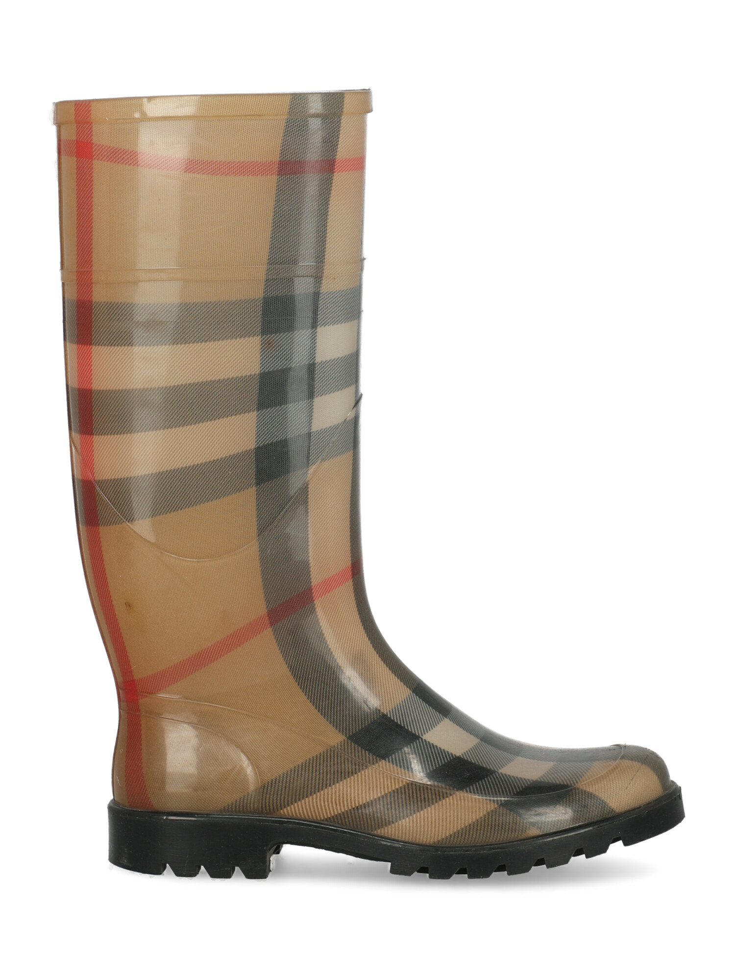 Pre-owned Burberry Shoe In Black, Camel Color, Red