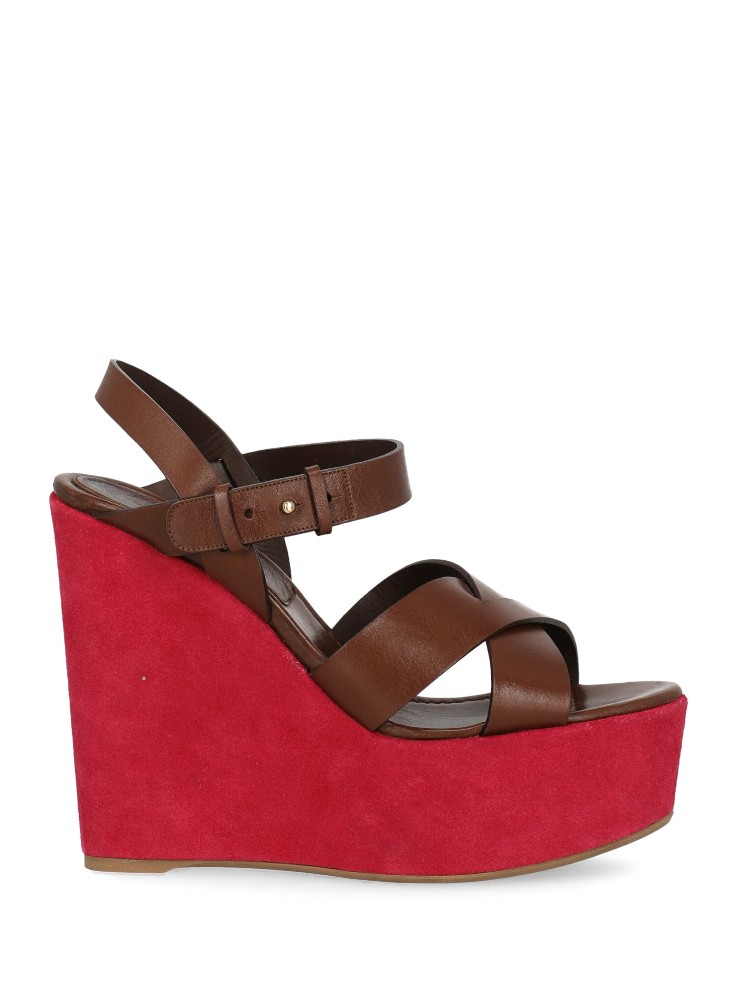 Pre-owned Sergio Rossi Shoe In Brown, Pink