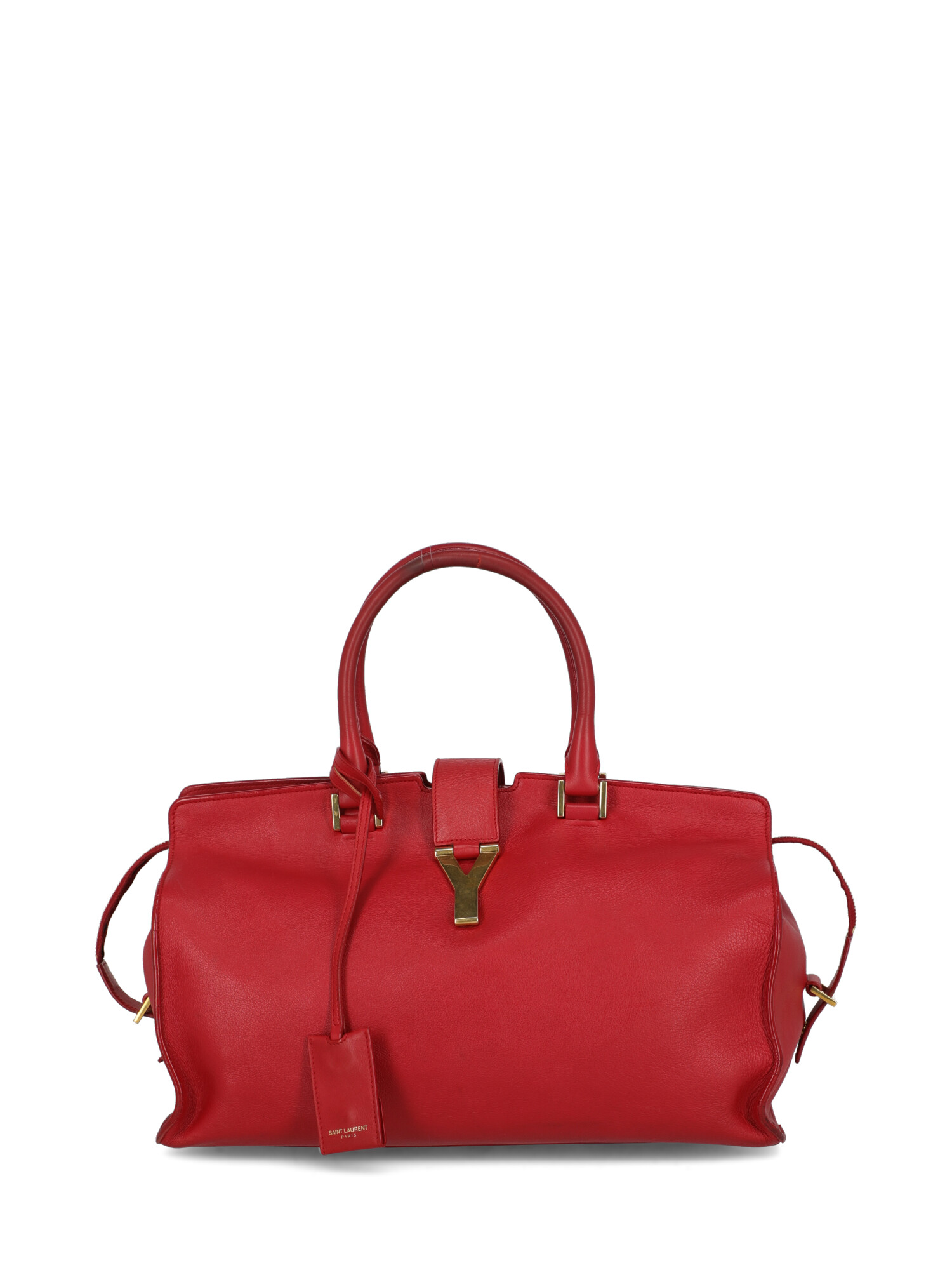 Pre-owned Saint Laurent Cabas Chyc In Red