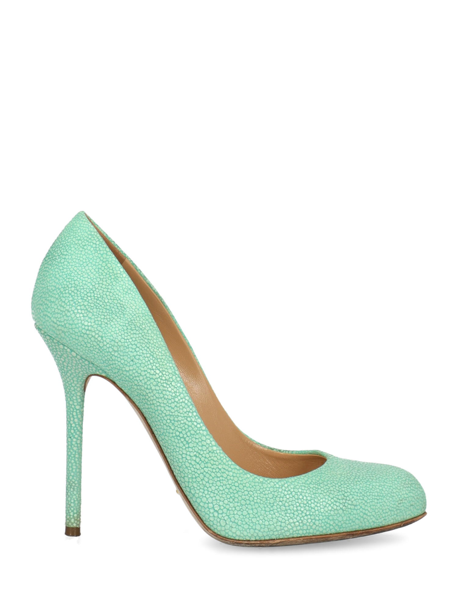 Pre-owned Sergio Rossi Shoe In Green